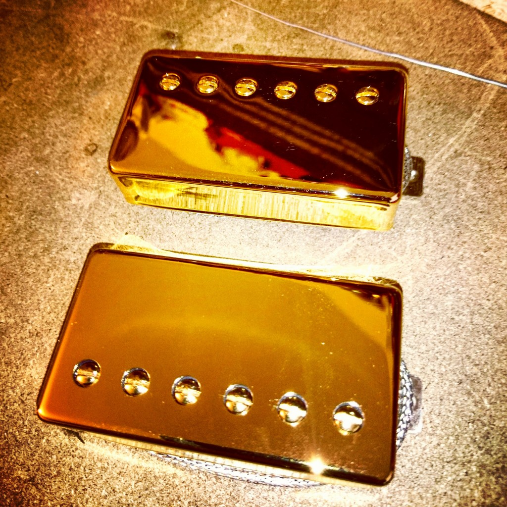 Peter Green Humbuckers in gold hand wound by Tonefinder in Havant, Hampshire, England, UK
