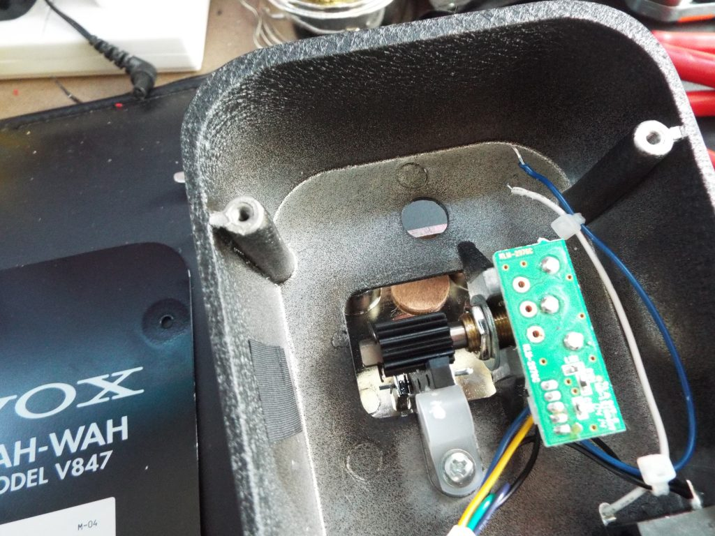 The body of the wah with the switch removed